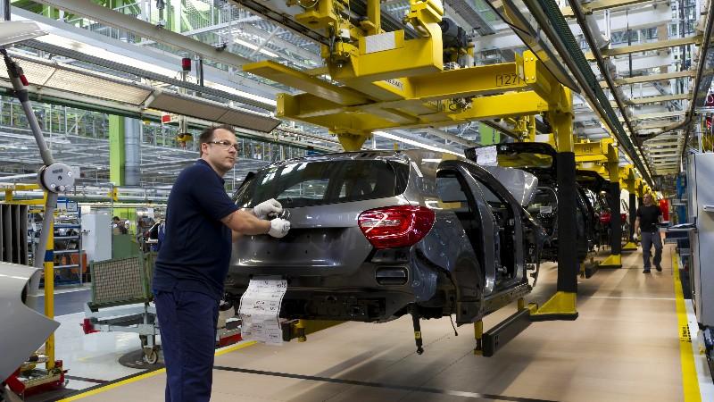 Bandablauf der neuen Mercedes-Benz A-Klasse im Werk Rastatt am 1